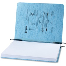 "Acco Presstex Letter Recycled Report Cover - 2"" Folder Capacity - 8 1/2"" x 11"" - Presstex - Light Blue - 60% Recycled - 5 / Pack"
