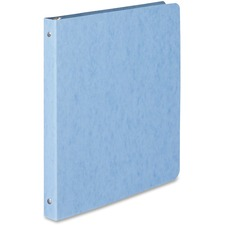 "Acco Presstex Coated Round Ring Binder - 1/2"" Binder Capacity - Letter - 8 1/2"" x 11"" Sheet Size - 3 x Round Ring Fastener(s) - 20 pt. Binder Thickness - Pressboard - Light Blue - 226.8 g - Recycled - Moisture Resistant, Open and Closed Triggers - 1 Each"