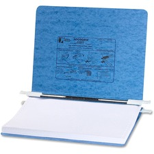 "Acco PRESSTEX® Covers with Hooks - 6"" Binder Capacity - 8 1/2"" x 14 7/8"" Sheet Size - Light Blue - Recycled - Retractable Filing Hooks, Hanging System, Moisture Resistant, Water Resistant - 1 / Each"