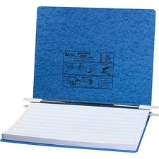 "Acco 14-78""x11"" Presstex Hanging Data Binders - 6"" Binder Capacity - Fanfold - 11"" x 14 7/8"" Sheet Size - Light Blue - Recycled - 1 Each"