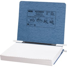 "Acco Presstex Storage Hook Data Binders - 6"" Binder Capacity - Letter - 8 1/2"" x 11"" Sheet Size - Light Blue - Recycled - Retractable Filing Hooks, Hanging System, Moisture Resistant, Water Resistant - 1 Each"