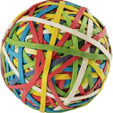 "Acco Rubber Band Ball - 0.75"" (19.05 mm) Length x 0.13"" (3.18 mm) Width - 1 Each - Assorted"