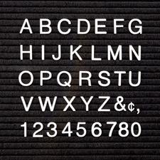 QRT4423 - Quartet Felt Letter BoardCharacter Set