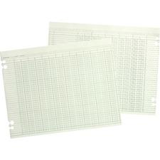 WLJ G1024 Acco/Wilson Jones Prepunched Ledger Paper Sheets WLJG1024