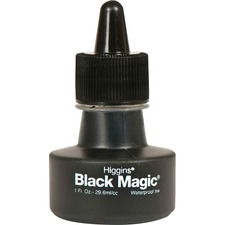 Higgins Black Magic Waterproof Ink - Black 29.57 mL Ink - 1 Each