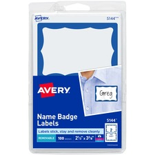 AVE 5144 Avery Self-Adhesive Print / Write Name Badges AVE5144