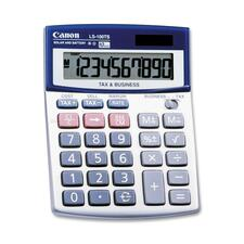 "Canon LS100TS Desktop Calculator - Auto Power Off - 10 Digits - LCD - Battery/Solar Powered - 4"" x 5.3"" x 1.2"" - 1 Each"