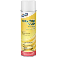 Genuine Joe Furniture Polish - Spray - 0.13 gal (17 fl oz) - Lemon Scent - 1 Each