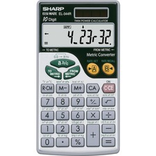SHR EL344RB Sharp EL-344RB 10-digit Handheld Calculator SHREL344RB