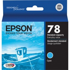 Epson Claria Original Ink Cartridge - Inkjet - 430 Pages - Cyan - 1 Each