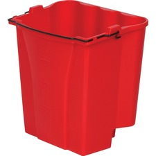 "Rubbermaid Commercial WaveBrake 18Quart Dirty Water Bucket - 18 quart - 14.1"" x 9.9"" - Tubular Steel, Plastic - Red - 1 Each"