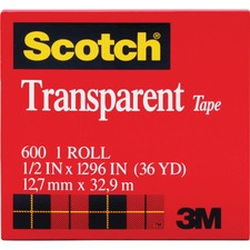 MMM 600121296 3M Scotch Glossy Transparent Tape MMM600121296
