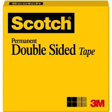 MMM665121296 - Scotch Permanent Double-Sided Tape - 1/2
