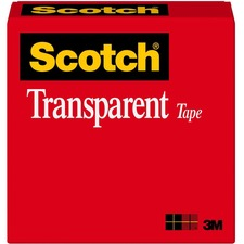 "Scotch Glossy Transparent Tape - 0.75"" Width x 36 yd Length - 1"" Core - Non-yellowing, Photo-safe, Transparent, Glossy - 1 / Roll - Clear"