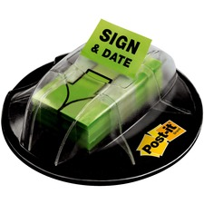 "MMM 680HVSD 3M Post-it 1"" Sign/Date Flags w/ Grip Dispenser MMM680HVSD"