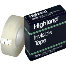 MMM 6200341296 3M Highland Matte-finish Invisible Tape MMM6200341296