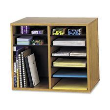 SAF 9420MO Safco Adjustable 12-Slot Wood Literature Organizer SAF9420MO
