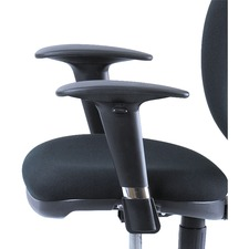 Safco Metro Extnd-height Chair Adjustable Arm Kit - Black - 2 / Set