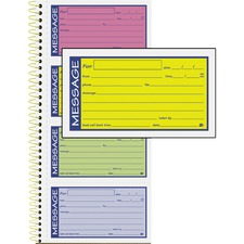 ABF SC1153RB Adams 2-Part Carbonless Phone Message Books ABFSC1153RB