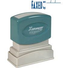 XST 1820 Xstamper Pre-Inked FAXED Title Stamp XST1820