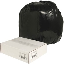 NAT 00990 Nature Saver Black Low-density Recycled Can Liners NAT00990