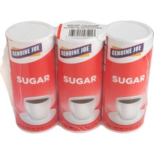 Genuine Joe 20 oz. Sugar Canister - Canister - 1.2 lb (20 oz) - Natural Sweetener - 3/Pack