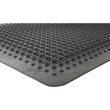 "Genuine Joe Flex Step Rubber Anti-Fatigue Mats - Warehouse - 60"" (1524 mm) Length x 36"" (914.40 mm) Width - Rubber - Black"