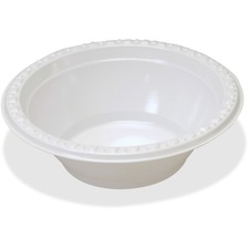 TBL 12244WH Tablemate Party Expressions Plastic Bowls TBL12244WH