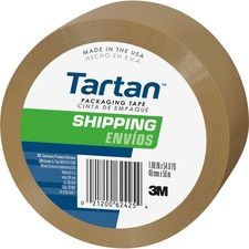 MMM 37102TN 3M Tartan Shipping Packaging Tape MMM37102TN