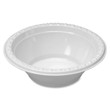 TBL 5244WH Tablemate Plastic Dinnerware Bowls TBL5244WH