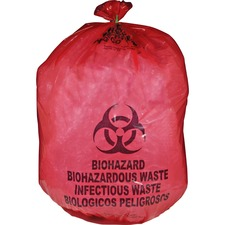 MHM MDRB142755 MHMS Red Biohazard Infectious Waste Bags MHMMDRB142755