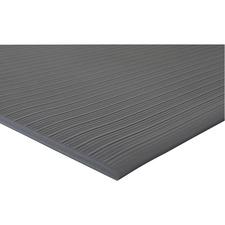 "Genuine Joe Air Step Anti-Fatigue Mat - Warehouse - 12 ft (3657.60 mm) Length x 36"" (914.40 mm) Width x 0.38"" (9.53 mm) Thickness - Vinyl - Black"