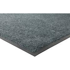 """Genuine Joe Platinum Series Indoor Wiper Mats - Warehouse, Indoor - 56"""" (1422.40 mm) Length x 33.50"""" (850.90 mm) Width - Nylon, Rubber - Gray"""