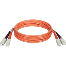 Tripp Lite  Multimode Duplex Fiber Optic Patch Cable Orange SC/SC 1 ft