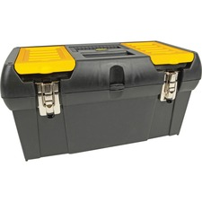 "Stanley Series 2000 Tool Box - External Dimensions: 10"" Width x 19"" Depth x 10"" Height - Latching Closure - Rubber - Black - For Tool - 1 Each"