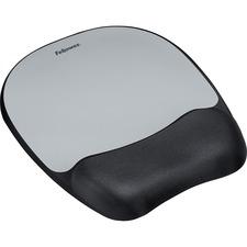 FEL 9175801 Fellowes Memory Foam Silver Streak Mouse Pad FEL9175801