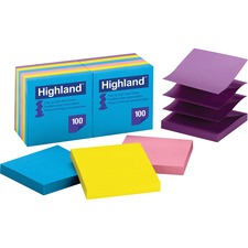 MMM 6549PUB 3M Highland Repositionable Bright Pop-up Notes MMM6549PUB