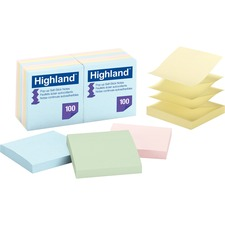 MMM 6549PUA 3M Highland Self-stick Pastel Pop-up Notes MMM6549PUA