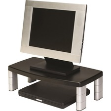 """3M Adjustable Monitor Riser Stand - Up to 17"""" Screen Support - 18.14 kg Load Capacity - 6"""" (152.40 mm) Height x 18.50"""" (469.90 mm) Width x 10"""" (254 mm) Depth - Black"""