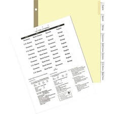 KLF 44008 Kleer-Fax MAX-Tabs Insertable Clear Index Tabs KLF44008