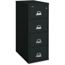 """FireKing Insulated File Cabinet - 4-Drawer - 20.8"""" x 31.5"""" x 52.8"""" - 4 x Drawer(s) for File - Legal - Fire Resistant, Pick Resistant Lock, Drill Resistant, Impact Resistant, Insulated, Key Lock - Black - Powder Coated - Steel"""