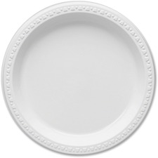 TBL 9644WH Tablemate Party Expressions Plastic Plates TBL9644WH