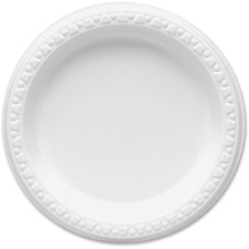 TBL 6644WH Tablemate Party Expressions Plastic Plates TBL6644WH