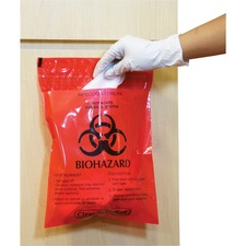 CTK CTRB042214 CareTek Stick-On Biohzrd Infectious Red Waste Bags CTKCTRB042214