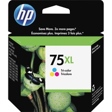 HP 75XL Original Ink Cartridge - Single Pack - Thermal Transfer - 520 Pages - Color - 1 Each