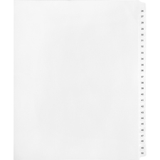 KLF91902 - Kleer-Fax Legal Exhibit Index Dividers