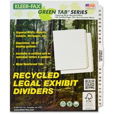 KLF81196 - Kleer-Fax Legal Exhibit Index Dividers