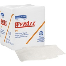 KCC 05701PK Kimberly-Clark WypAll L40 All-Purpose Wipers KCC05701PK
