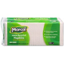 MRC 6506PK Marcal 100% Recycled Luncheon Napkins MRC6506PK