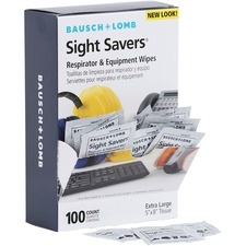 BAL 8595 Bausch & Lomb Sight Savers XL Equipment Wipes BAL8595